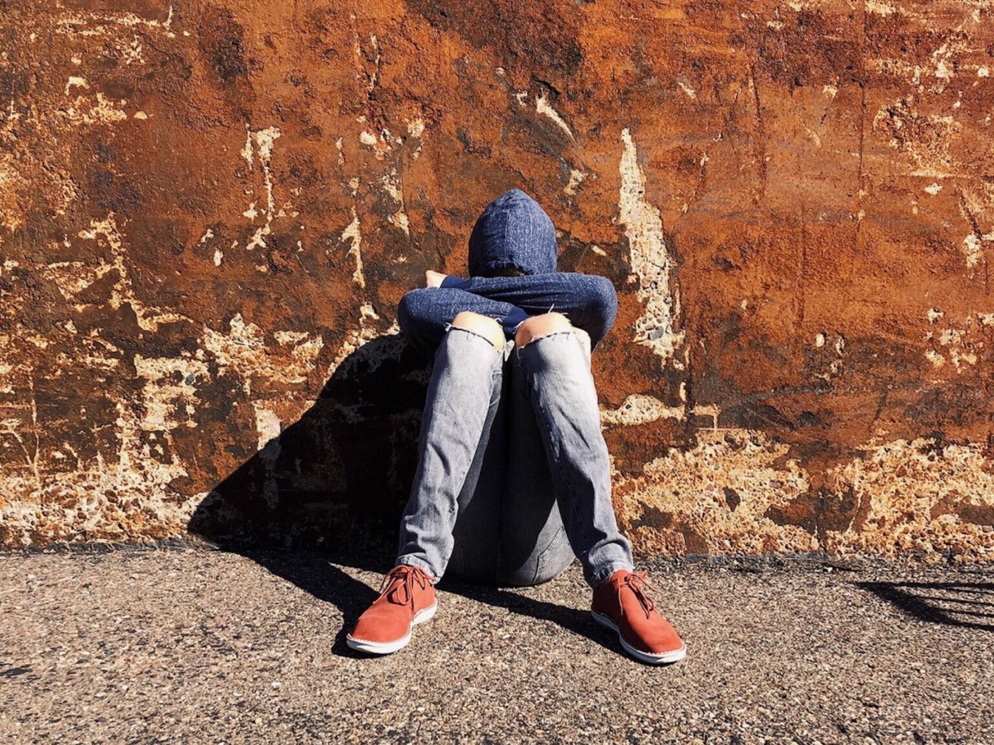 man depressed by sin